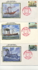 IOM FDC - 1980 150th ANIVERSARY Of STEAM PACKET COMPANY - SET OF 6 SILK COVERS - Isola Di Man