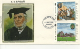 IOM FDC - 1980 T.E. BROWN SILK COVER - Isola Di Man