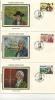 IOM FDC - 1981 COLONEL MARK WILKS - 4 SILK COVERS - Isola Di Man