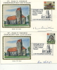 IOM FDC - 1981 ST PAUL´S CONSECRATION CENTENARY- 2 SILK COVERS - SIGNED - Isola Di Man