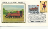 IOM FDC - 1981 - MANX NORTHERN RAILWAY SILK COVER - CARRIED ON THE TRAIN - Isola Di Man