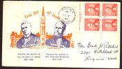 Cov438 Canada 1952, Alexander Macenzie, FDC - 1952-.... Règne D'Elizabeth II