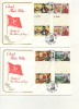 IOM FDC - 1981 COLONEL MARK WILKS - 2 FDC With GUTTER PAIRS - Isola Di Man