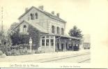 GODINNE. . Pr�s de Lustin et Yvoir. La gare du train (chemin de fer). post�e en 1904. Nels s�rie 7 N�49.