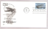 FDC Golden Anniversary Air Mail Service - Scott # C74 - First Day Covers (FDCs)
