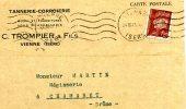 Carte De Commande De Mr Trompier&Fils Tannerie-Corroierie A Vienne Adressé A Mr Martin-Megisserie A Chamaret - Autres