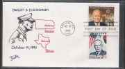 US/South Korea 1990  25c General Eisenhower Joint Issue On Faith Combo FDC  RenaM - Militares