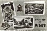 CPSM DIGNE (Alpes De Haute Provence) - Souvenir De Digne : 3 Vues - Digne