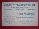 -Carte De Visite - MARSEILLE -RESTAURANT TRANSATLANTIQUE-BAR - Visiting Cards