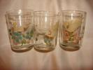 Série De  3  Verres Anciens Peint - Glass & Crystal