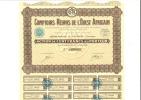 Comptoirs Réunis De L'ouest Africains - Action De 100 Francs - Juillet 1929 - Afrique