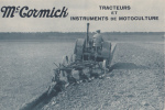 "MC CORMICK "" TRACTEURS ET INSTRUMENT DE MOTOCULTURE "" - Tracteurs"