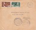 AEF - 1944 - ENVELOPPE De LIBREVILLE (GABON) Pour BRAZZAVILLE - 2 CENSURES COMMISSION C + A - FRANCE LIBRE - A.E.F. (1936-1958)