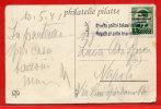 SLOVENIE OCCUPATION ITALIENNE DE 1941 SUR CARTE DE LUBJANA POUR NAPLES ITALIE (2 ANGLES DEFECTUEUX) - Slovénie
