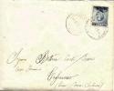 """Regno D´Italia 1914 Lettera Impostata Al Battello Annullo Siracusa Porto Per Tagliacozzo Affrancata Con 15 Cent. """"Libia"""" - Libia"""