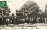 DIGNE Ou Environs (04) Rare Carte Photo Grève Des Cheminots Du Sud De La France 1910 Locomotive - Digne