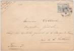 6902#  Y&T N° 150 ORPHELIN SEUL / LETTRE Obl FONTAINEBLEAU Cote 45 Euros - Marcophilie (Lettres)