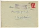 LUDWEILER über VÖLKLINGEN - 1949  - Poststellen-Stempel - French Zone