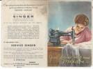 PUBLICITE SINGER - Document 27 X 20 Cm - Werbung
