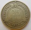 British Honduras 25 Cents 1919 40000ex Km 17 - Honduras