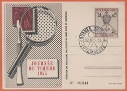 Journée Du Timbre Championnat Du Monde D' Escrimes 1955 Luxembourg - Luxemburgo