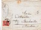 Metz 1876 - Lettre Brief Pour Bischwiller - Cachet Arrivée Au Verso - Elsass-Lothringen