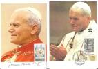 France: 2 Cartes - Souvenirs Jean- Paul II (Visite En France - Oblit.   Mulhouse) - Papas