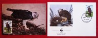 WWF Ansichtskarte Tiere Vogel Die Harpyie Mit Briefumschlag 1990 Postkarte - Birds