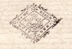 1729    Généralité De DIJON / BOURGOGNE  Marque N°199   Arnay Le Duc, Chazilly - Cachets Généralité