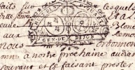 1725   Généralité De  DIJON (BOURGOGNE)    Marque N°189   Arnay Le Duc, Chazilly - Cachets Généralité