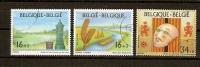 Belgie Belgique 1995 Ocbnr. 2582-84 (°) Used Cote 5,20 Euro - Belgium