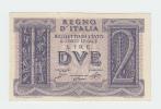 Italy 2 Lire 1939 AUNC CRISP Banknote P 27 - [ 1] …-1946 : Regno