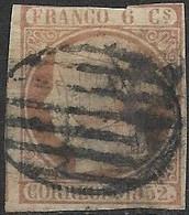 SPAIN 1852 ISABELLA II   Pink - 6c  FU - 1850-68 Kingdom: Isabella II