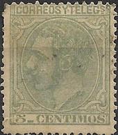 SPAIN 1879 ALPHONSO XII  Green - 5c.. FU - Gebraucht