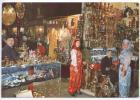 Turkey Postcard Istanbull Covered Grand Bazar Interior Of Market Sent To Denmark Meter Cancel Beyazit 6-7-1988 - Türkei