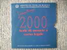 COPERTINA DELLA SERIE MONETE DIVISIONALI DELLA REPUBBLICA ITALIANA DEL 2000 - SOLO COPERTINA NON MONETE - - Materiale