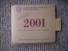 COPERTINA DELLE MONETE DELLA REPUBBLICA ITALIANA DIVISIONALI DEL 2001 - SOLO COPERTINA NON MONETE - - Materiale