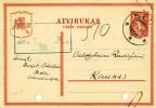 Lietuva Lithuania Postcard Atvirukas Kaunas 1924 Seda - Lithuania