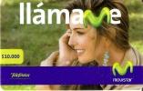 TARJETA DE COLOMBIA DE MOVISTAR-TELEFONICA DE $10000 DE UNA CHICA - Colombia