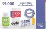 TARJETA DE COLOMBIA DE TIGO DE $5000 - ALIVIO EFECTIVO - Colombia