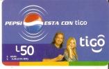 TARJETA DE HONDURAS DE TIGO DE PEPSI-COLA ESTA CONTIGO - Honduras