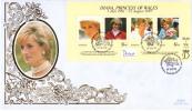 St. Kitts FDC Scott #438 Sheet Of 4 Diana Princess Of Wales - St.Kitts-et-Nevis ( 1983-...)