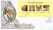 Namibia FDC Scott #909 Sheet Of 4 Diana Princess Of Wales - Namibie (1990- ...)