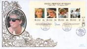 Cayman Islands FDC Scott #753 Sheet Of 4 Diana Princess Of Wales - Iles Caïmans