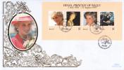 Belize FDC Scott #1091 Sheet Of 4 Diana Princess Of Wales - Belize (1973-...)