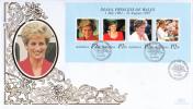 Botswana FDC Scott #663 Sheet Of 4 Diana Princess Of Wales - Botswana (1966-...)