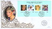 Bahamas FDC Scott #902 Sheet Of 4 Diana Princess Of Wales - Bahamas (1973-...)