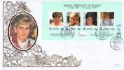 Tristan Da Cunha FDC Scott #618 Sheet Of 4 Diana Princess Of Wales - Tristan Da Cunha