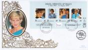 Bermuda FDC Scott #753 Sheet Of 4 Diana Princess Of Wales - Bermudes