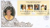 Ascension FDC Scott #696 Sheet Of 4 Diana Princess Of Wales - Ascension (Ile De L')